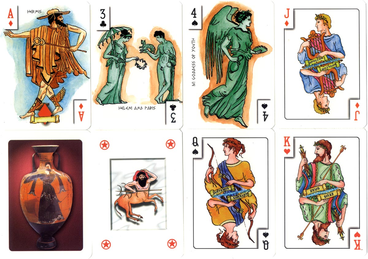 greek playing cards the world of playing cards