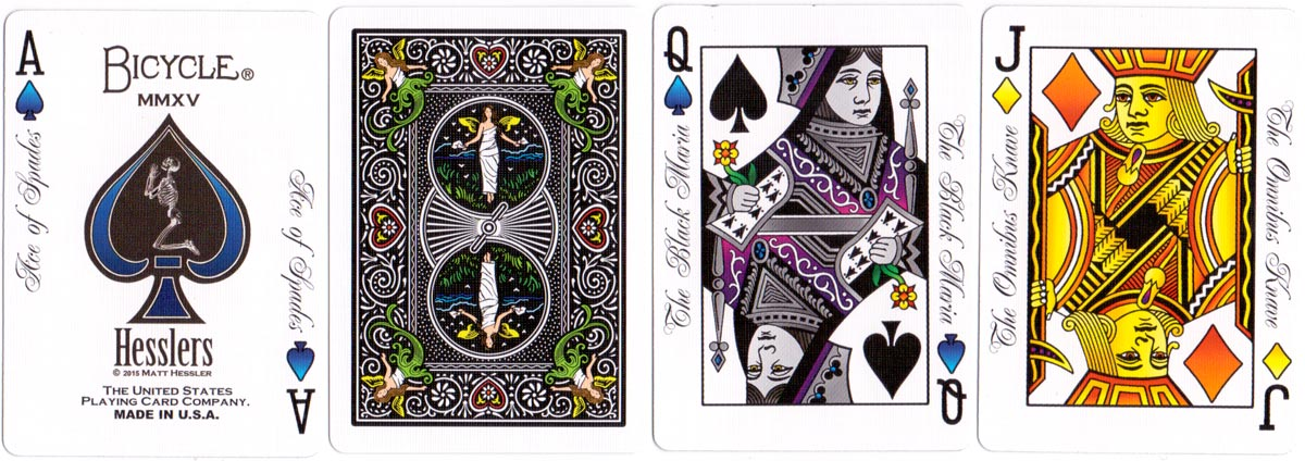 "Matt Hessler's ""Enhanced"" four-colour playing cards, 2015"
