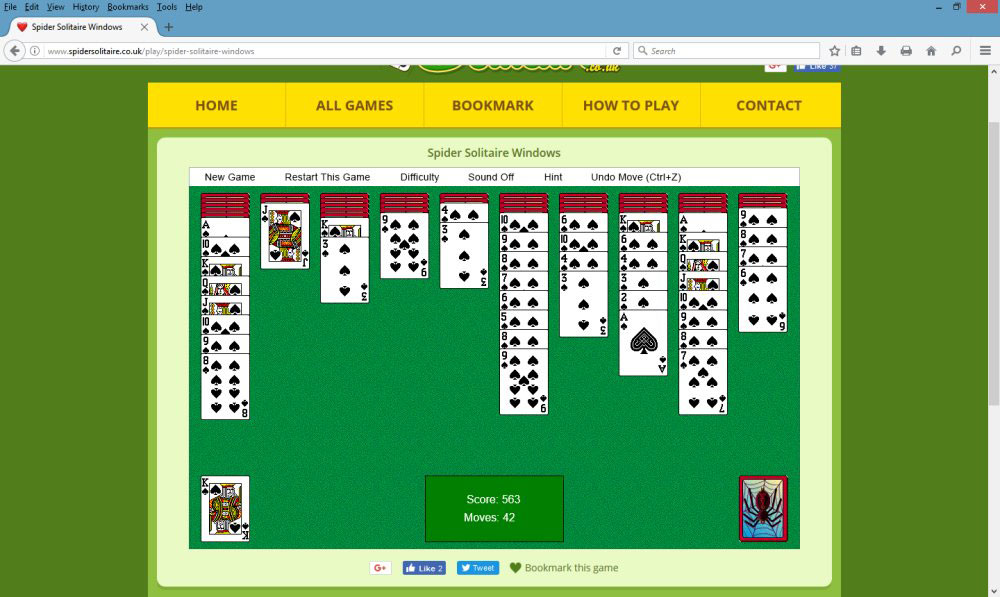 Spider Solitaire - The World of Playing Cards