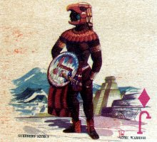 detail from special pack for Aeronaves de Mexico S.A., designed by Ramón Valdiosera Berman, mid-1960s