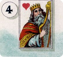 Detail from 'Cartes Lenormand' by H.P. Gibson & Sons Ltd., 1920s