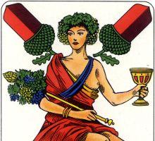 detail from Deuce of Acorns, Prussian Pattern, later type, Bielefelder Spielkarten GmbH, 1970