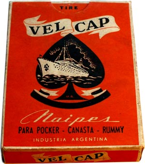 Naipes VELCAP playing cards by Orestes A. Cappellano, Buenos Aires, Argentina, c.1950