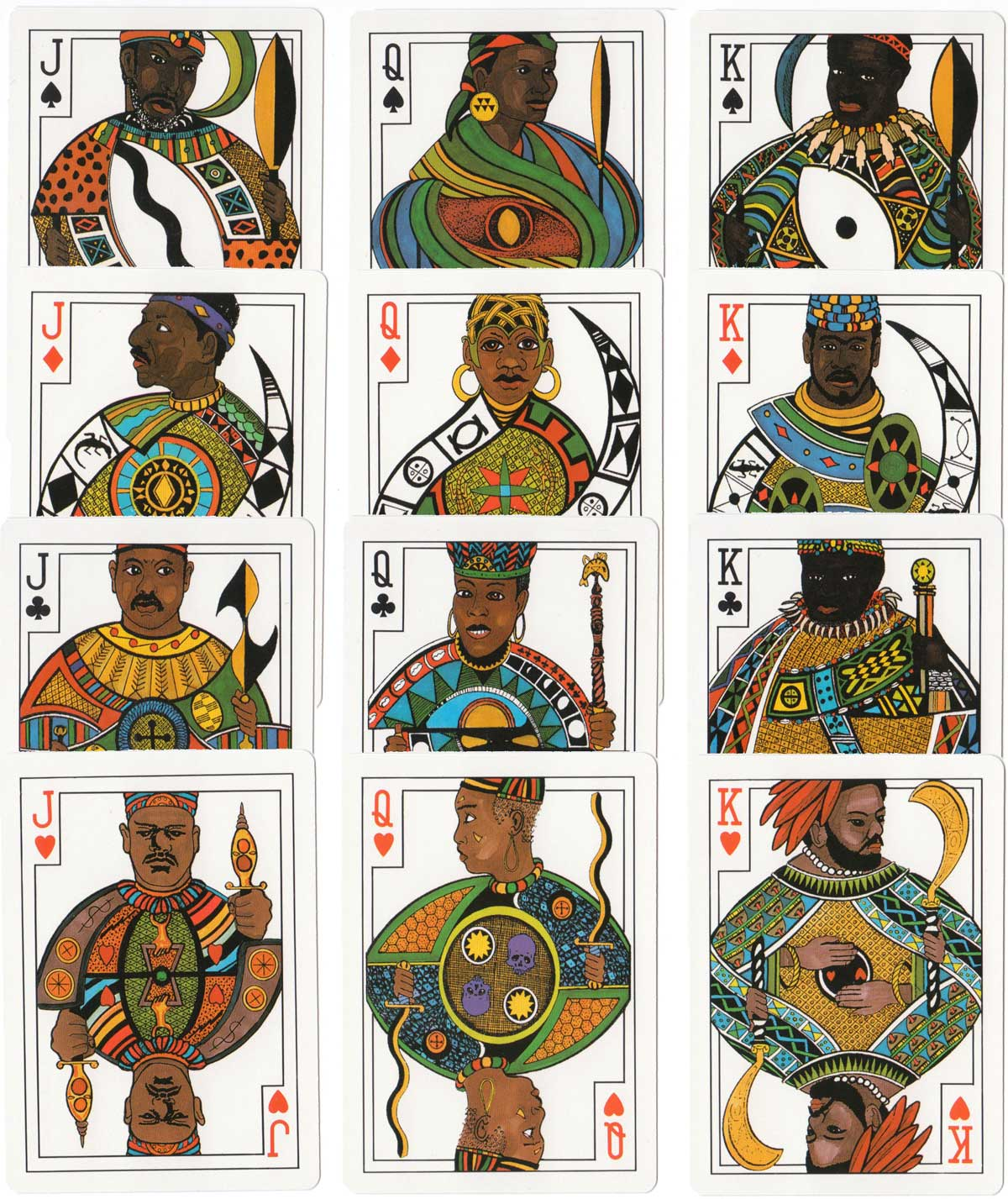"""African Art"" Playing cards by John J. Beckvermit III, 1994"