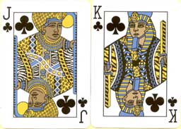 Jack and King of clubs