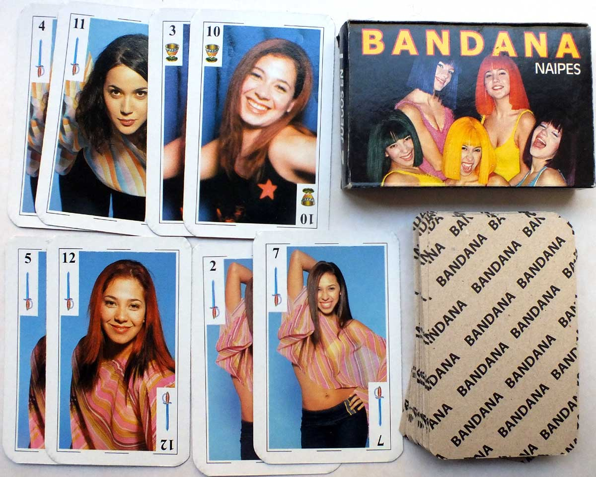 Bandana Argentine pop girl group playing cards 2002