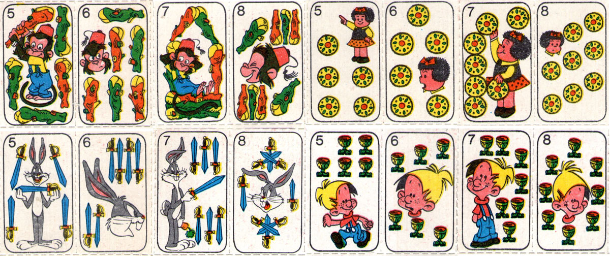 "Children's toy cards published in Argentina by Editorial Atlántida in the magazine ""Billiken"", 1964"