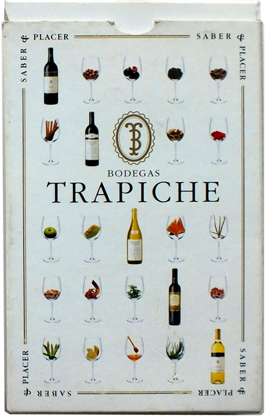 Box from promotional pack for Bodegas Trapiche, designed by Zemma & Ruiz Moreno, c.1998