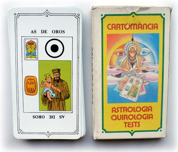 'Cartomancia Astrología Quirologia Tests' fortune-telling cards, Argentina, c.1985
