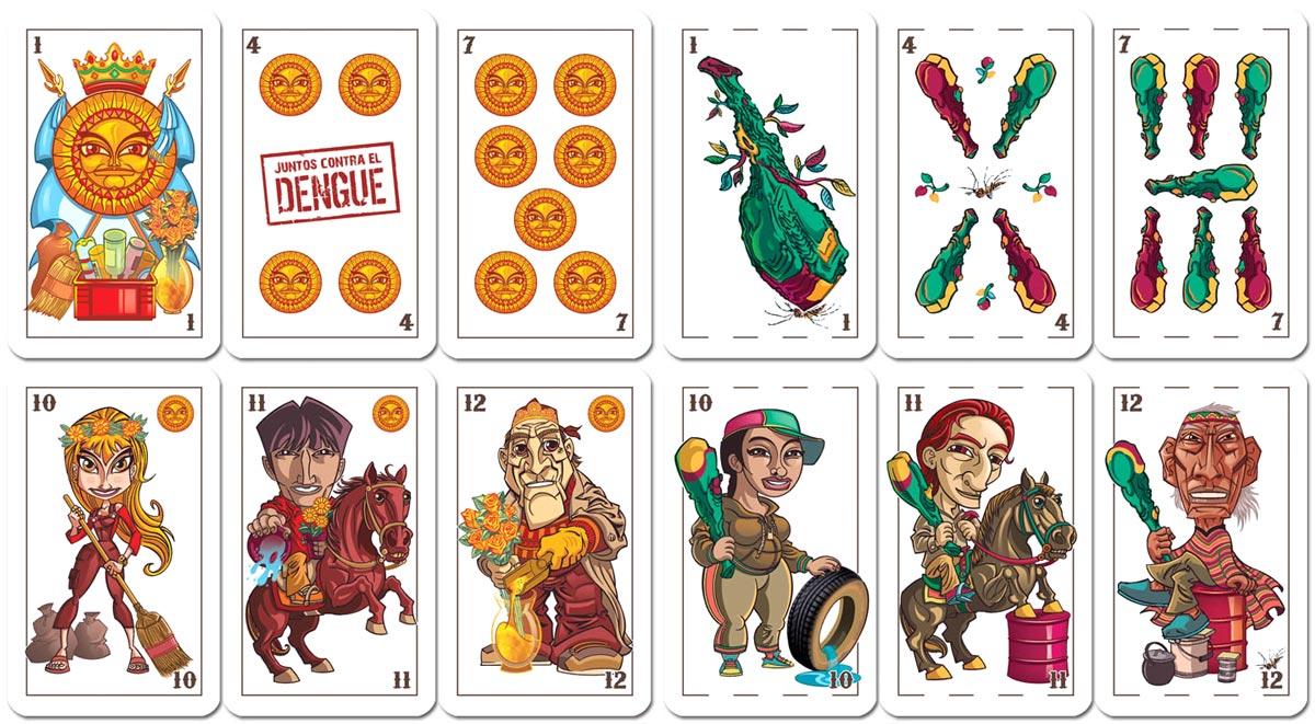 Naipes para la prevención del Dengue - Dengue prevention playing cards, 2010
