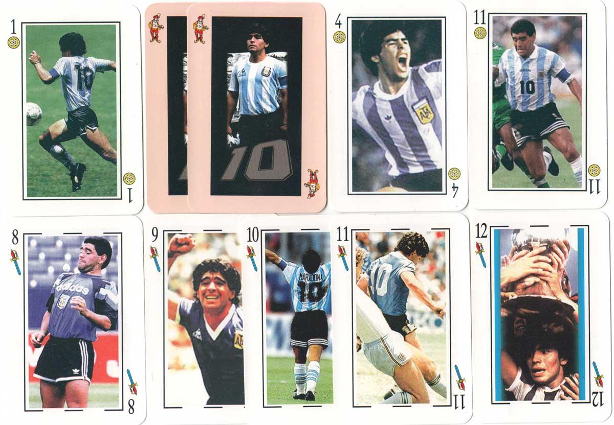 Diego Maradona football deck published by John Sterling / Distigráfica S.R.L., 2000