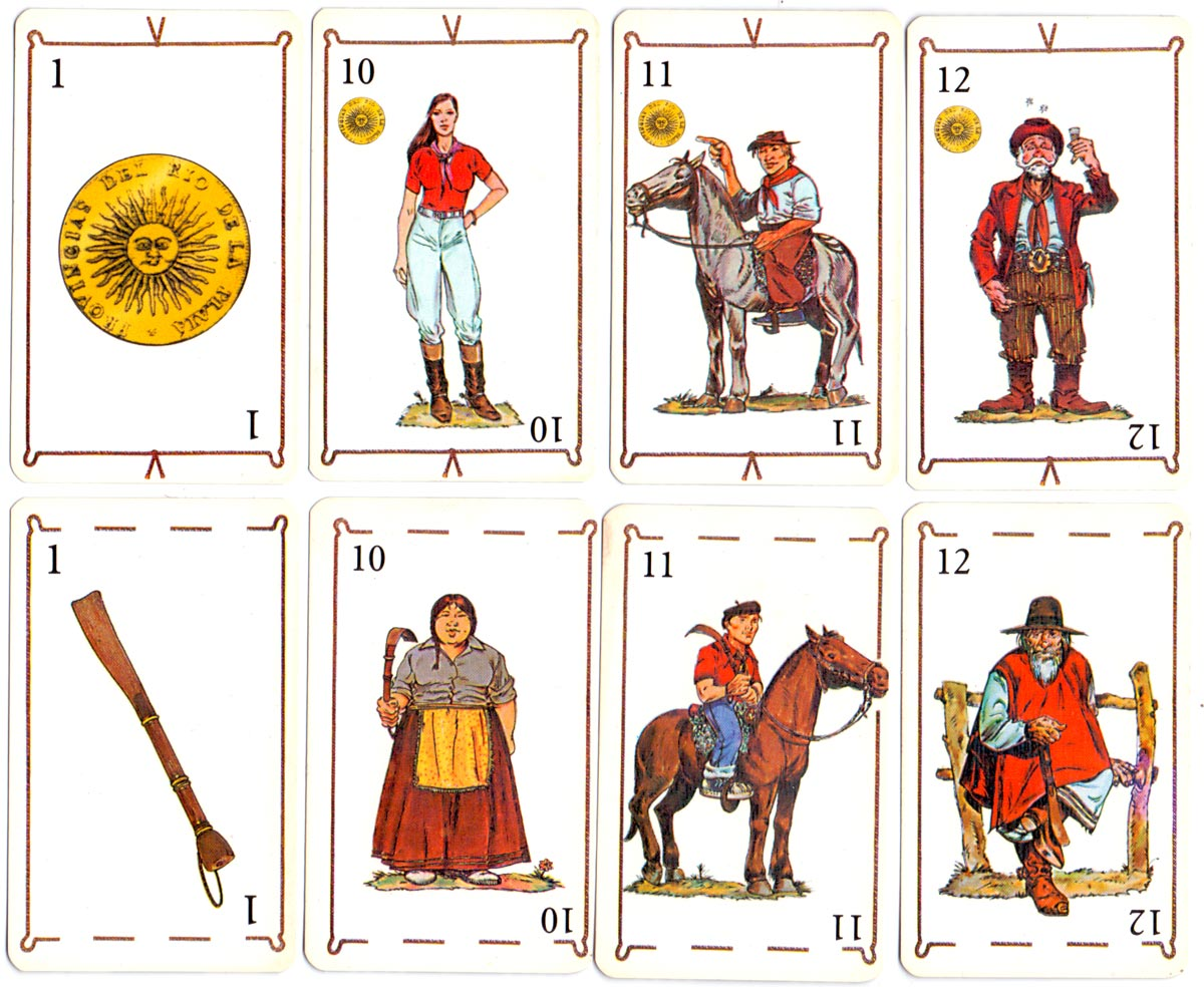 'Gaucho' Spanish-suited deck, anonymous manufacturer, made in Argentina, 2001