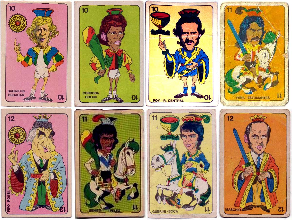 Figuritas Golazo collectible football cards from Argentina, 1973