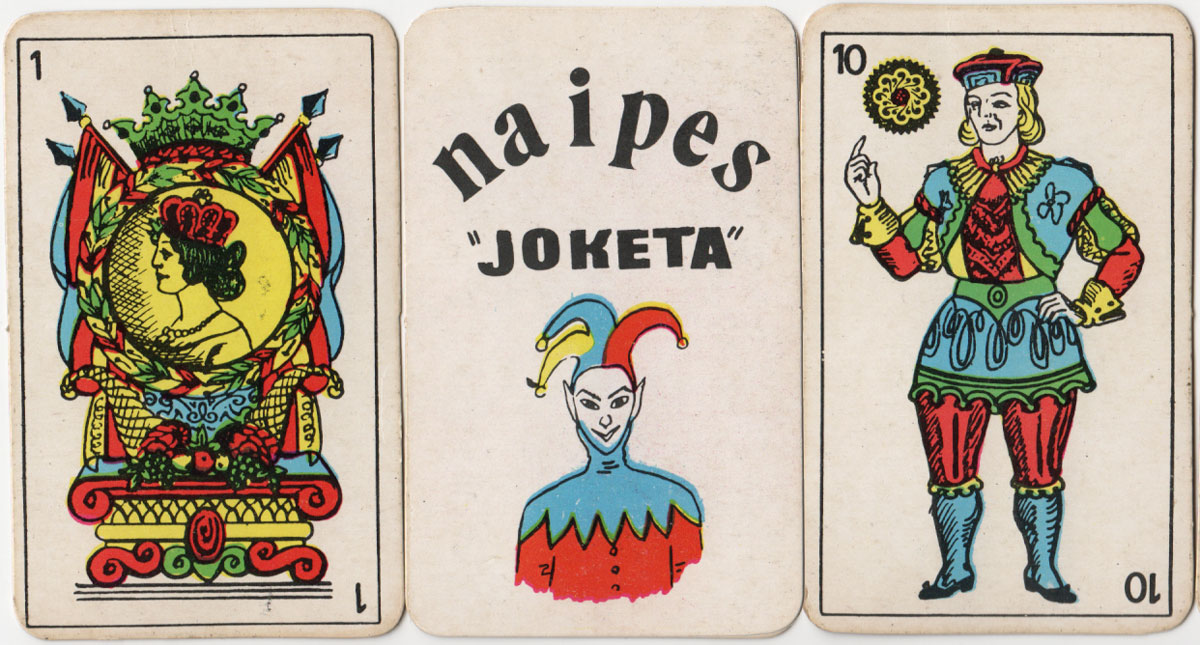 """Naipes Joketa"" by anonymous manufacturer, c.1975"