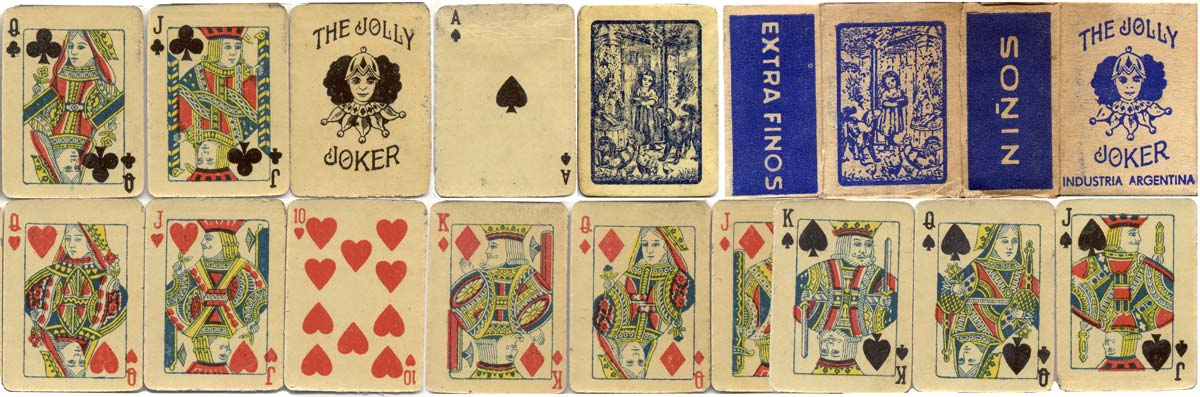 The Jolly Joker children's playing cards, anonymous manufacturer, 1940s