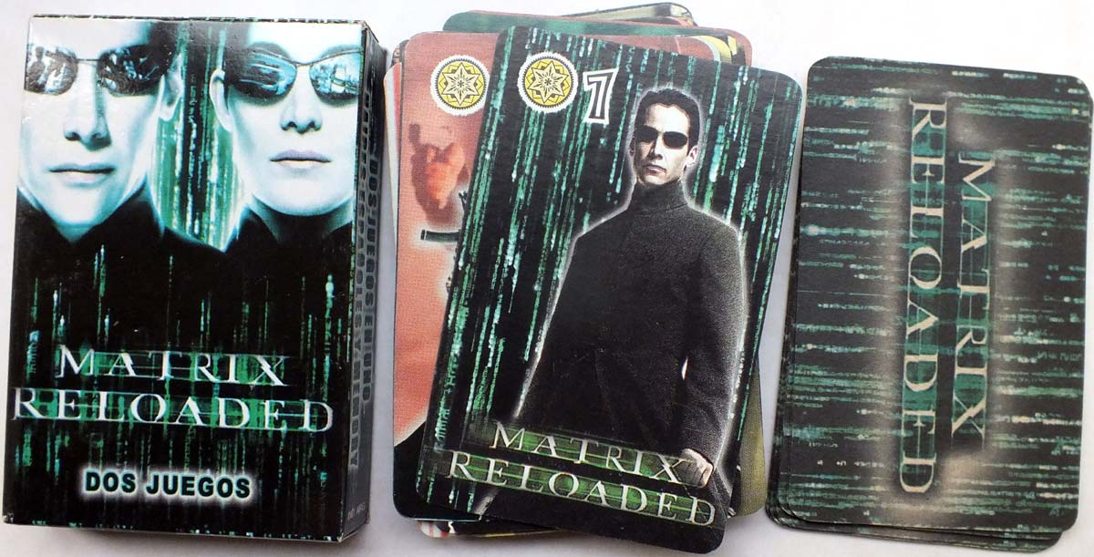Matrix Reloaded playing cards published anonymously, 2003