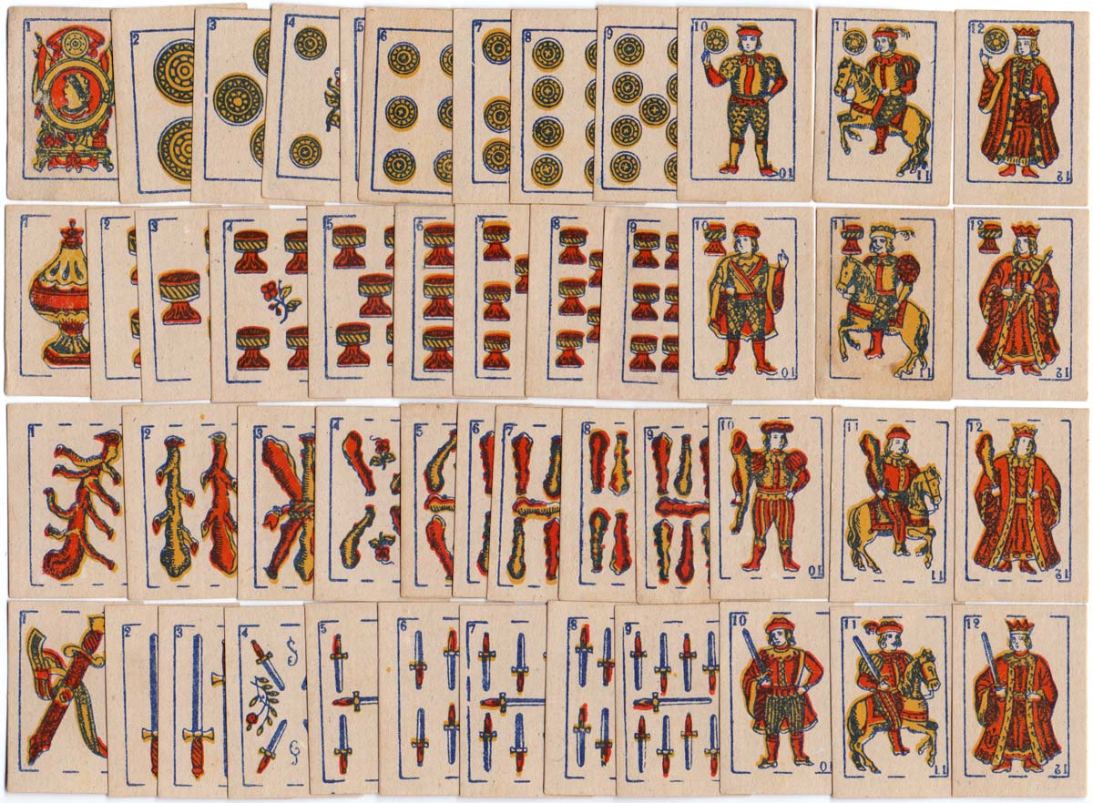 anonymous miniature or toy playing cards produced in Argentina, 1920s