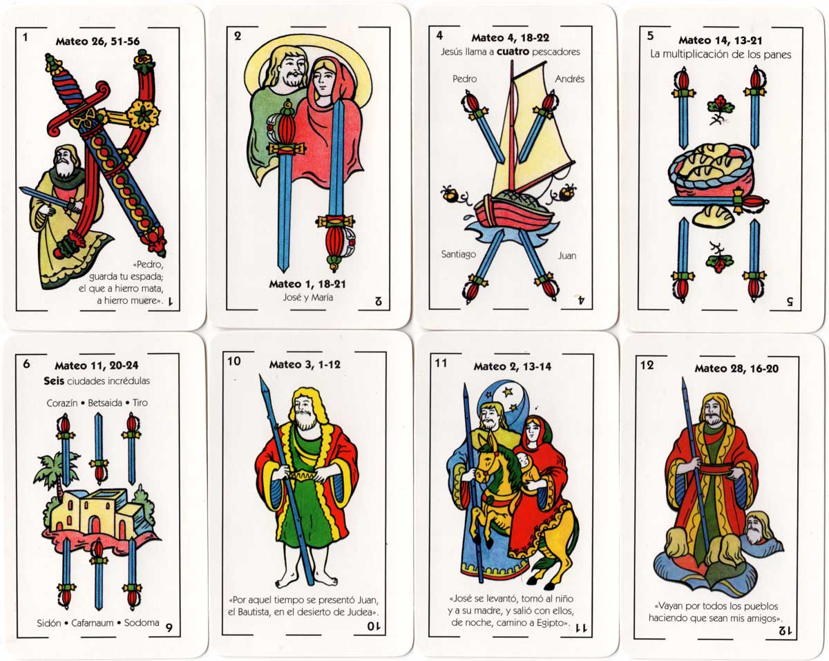 Naipes Cristianos Spanish-suited playing cards by Juan Carlos Pisano, 2002