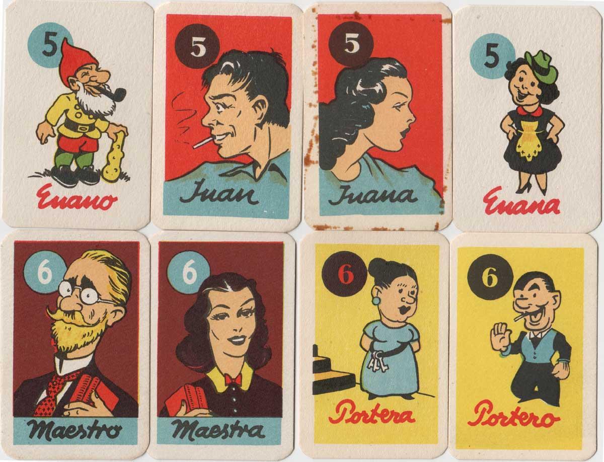 El Negrito Pedro card game, c.1950s