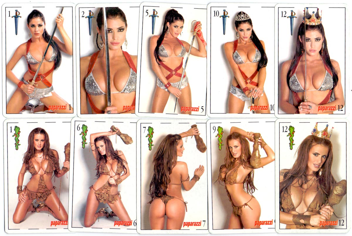 Pin-up deck given free with Paparazzi magazine, 2005