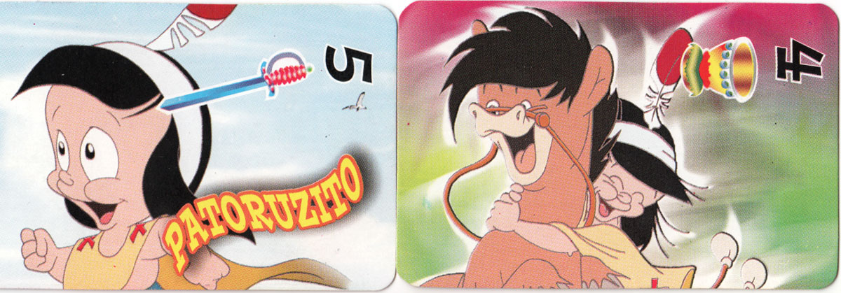 Patoruzito children's playing cards, Argentina, 2004