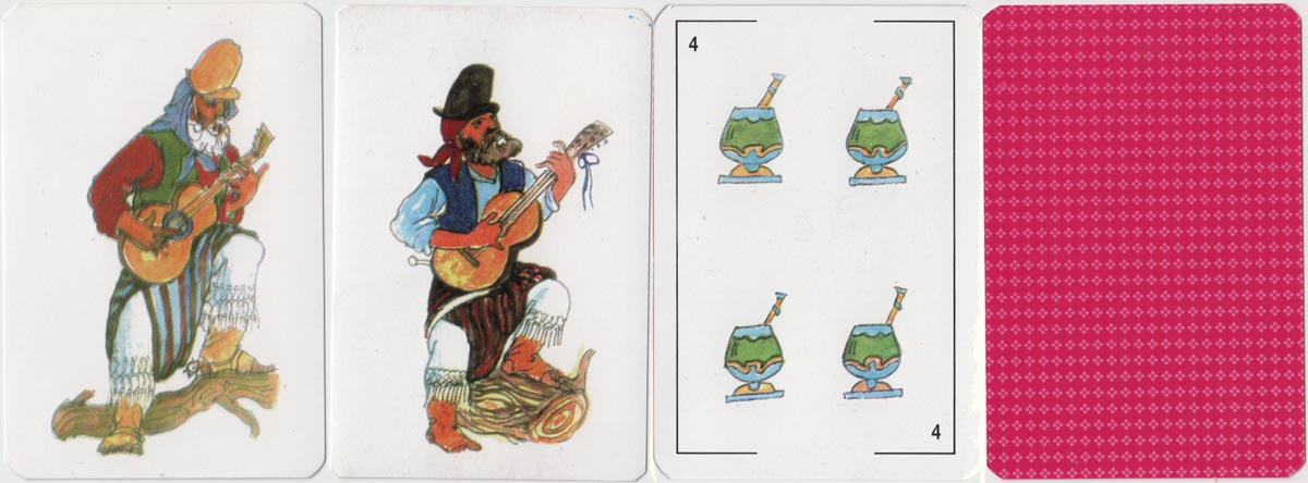 Gaucho playing cards with non-standard suit symbols