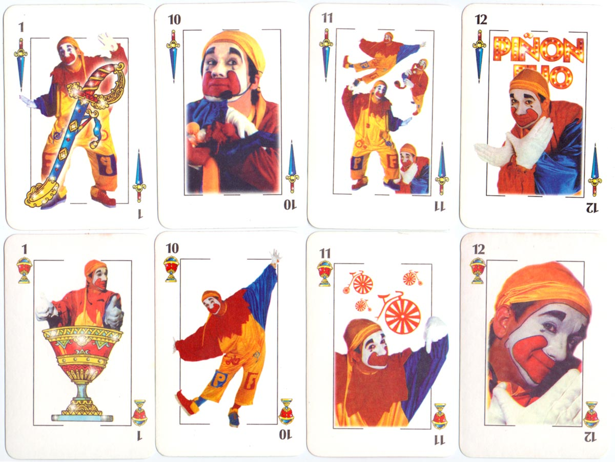 """Piñón Fijo"" playing cards, anonymous manufacturer, Argentina c.1990"