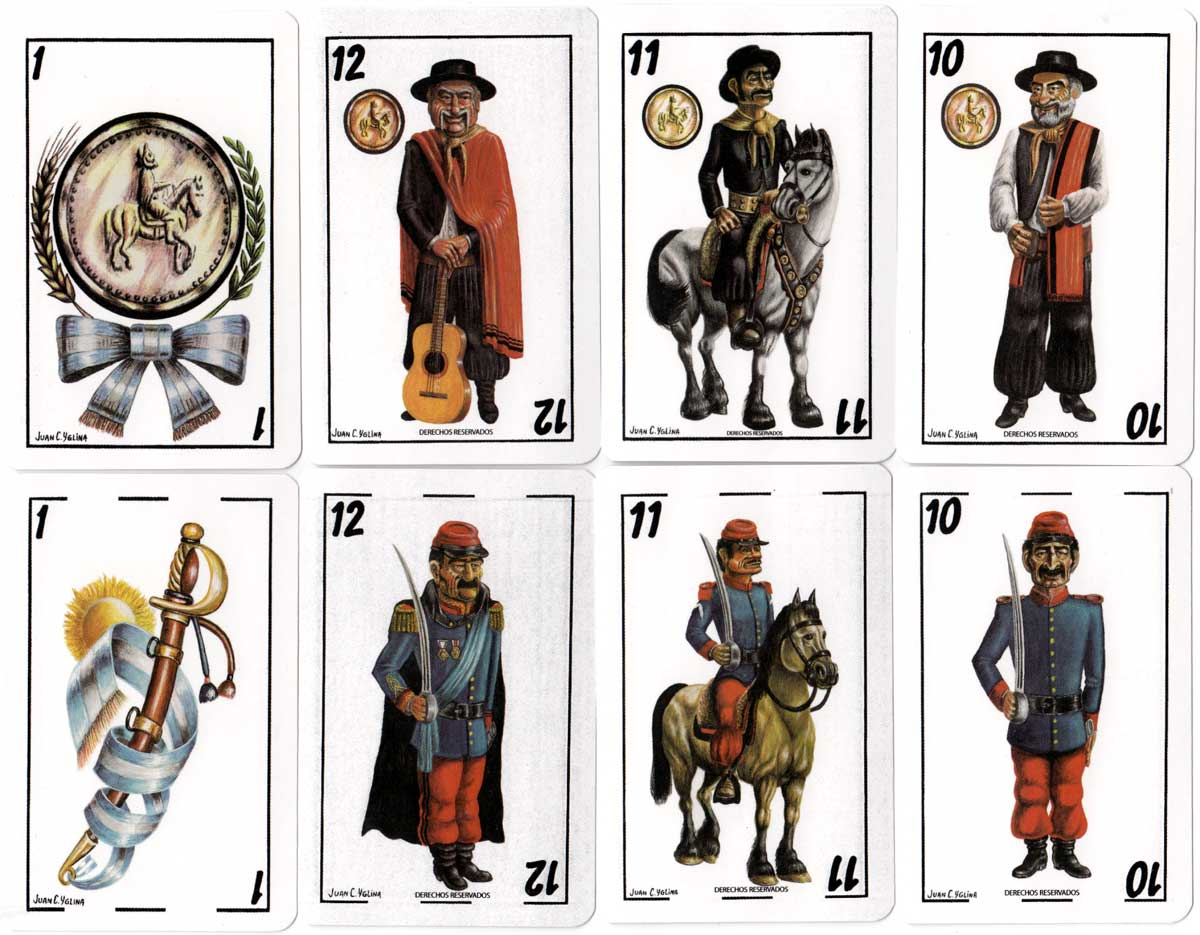Gaucho themed playing cards designed by Juan C. Yelina for Profertil Granular Urea, 2006