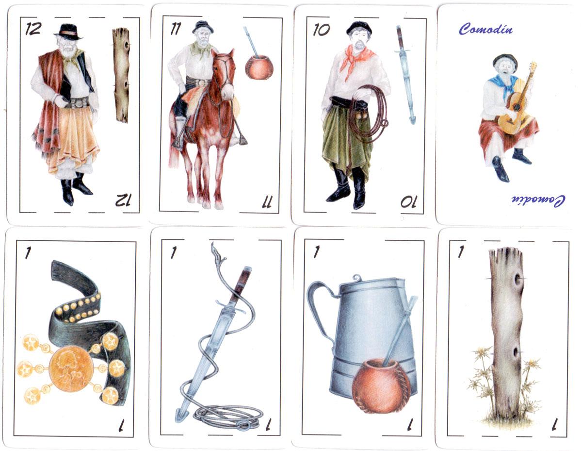 Recado de Bastos ('Gaucho Scrapbook') Gaucho-themed deck from Argentina, 2006