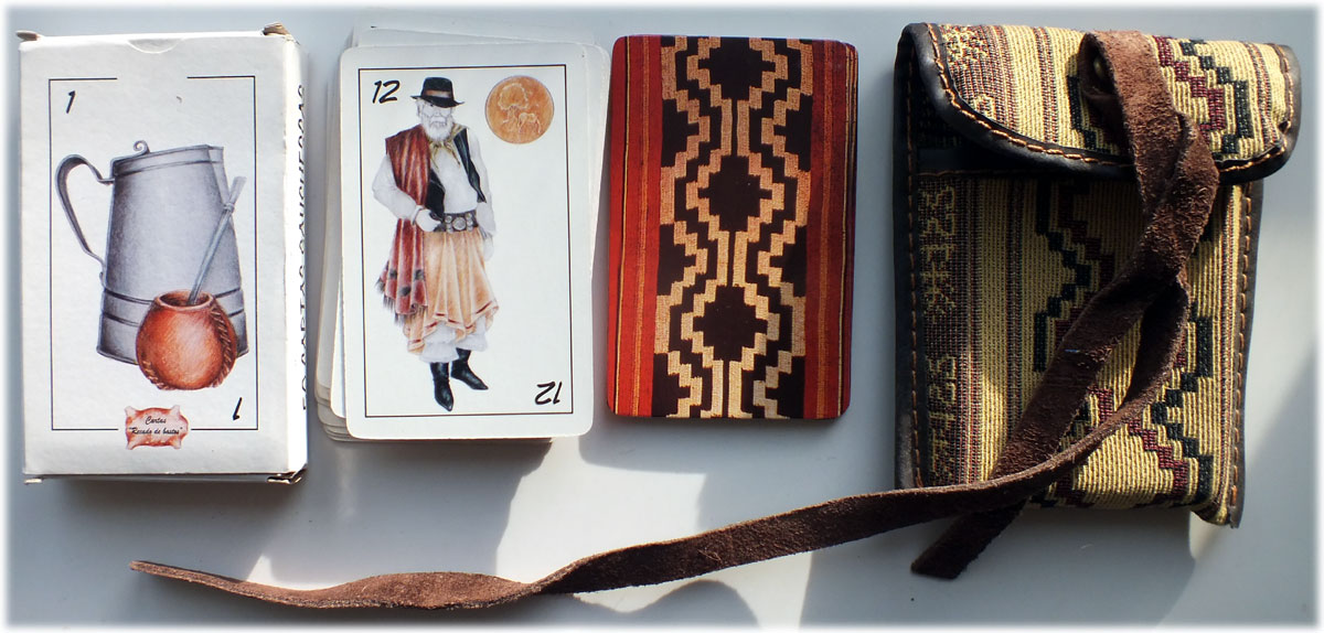 Recado de Bastos ('Gaucho Scrapbook') Gaucho-themed deck from Argentina, 2006