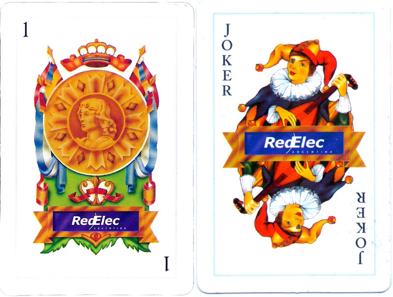 Publicity playing cards for RedElec Argentina, c.2008