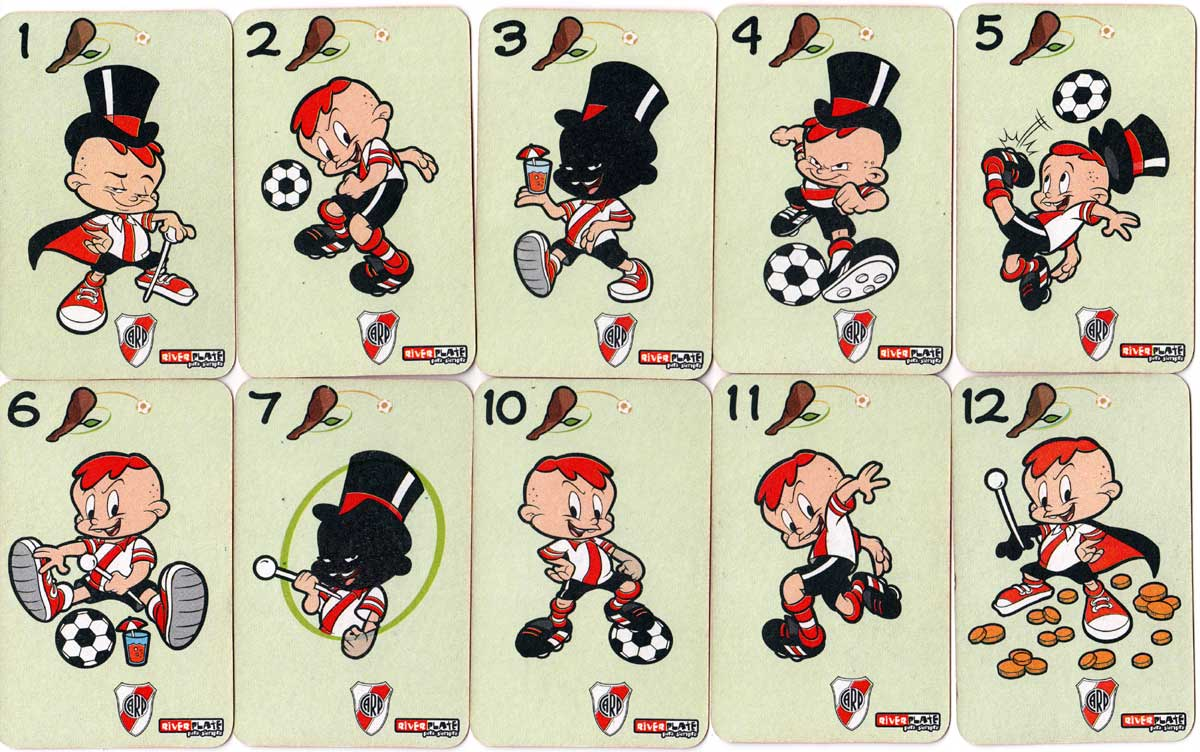 River Plate Para Siempre football club cartoon playing cards, c.2004