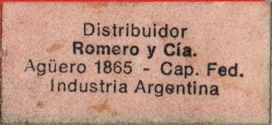 Label on Naipes de Poker Arlequin, c.1975