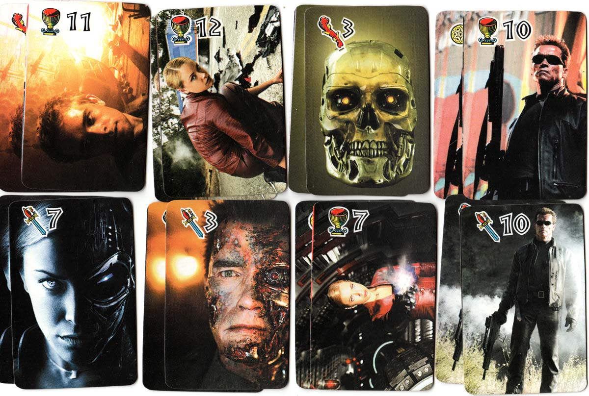 T3 Terminator playing cards based on the popular movie, 2003