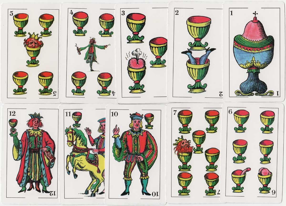 Hand-drawn semi-erotic playing cards by Lautaro Fiszman 'El Tripero', 2002