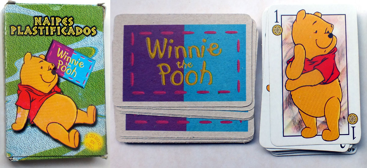 Winnie the Pooh Spanish-suited deck, 2002