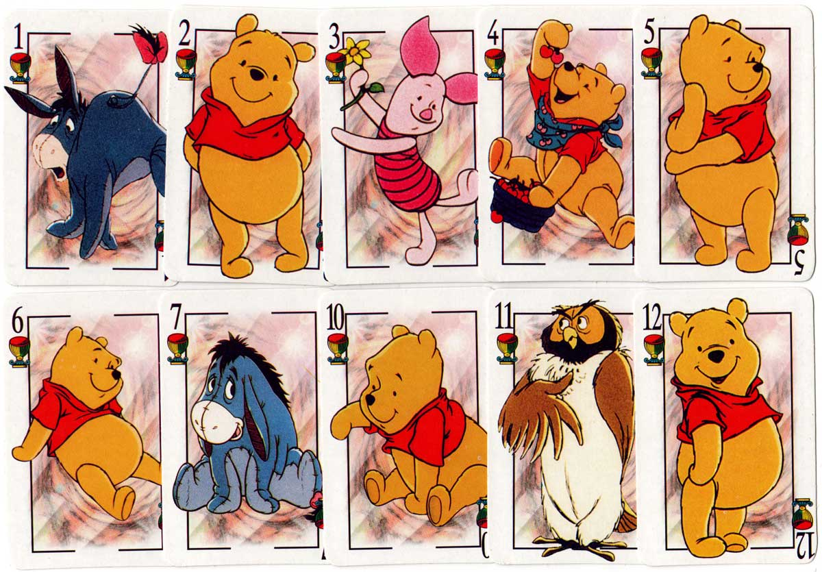 Winnie the Pooh Spanish-suited deck, 2002