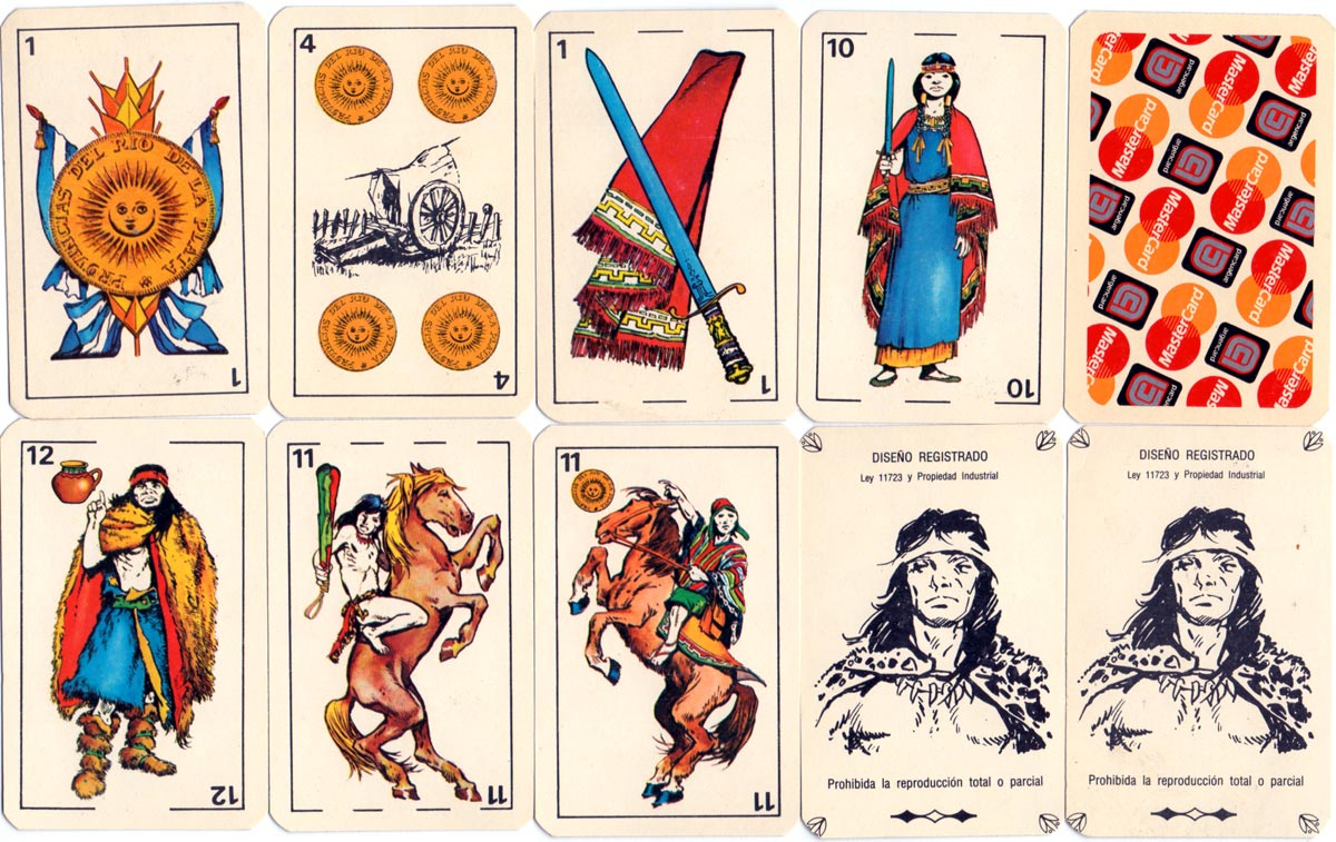 Naipes Argentinos 'La Partida' y 'Aparcero' published by Obsequios Empresarios Argentinos, Santa Fe for Mastercard, 1990