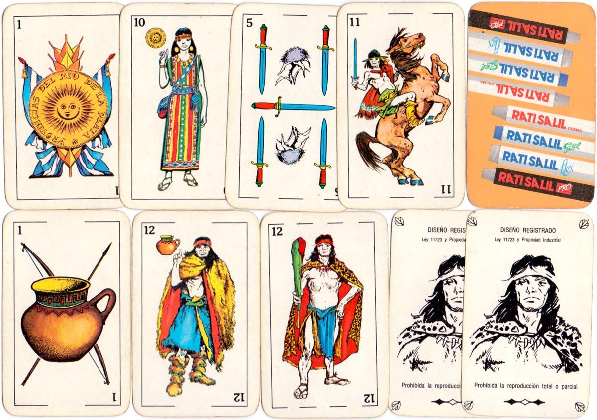 Naipes Argentinos 'La Partida' y 'Aparcero' published by Obsequios Empresarios Argentinos, Santa Fe for Rati Salil, 2007