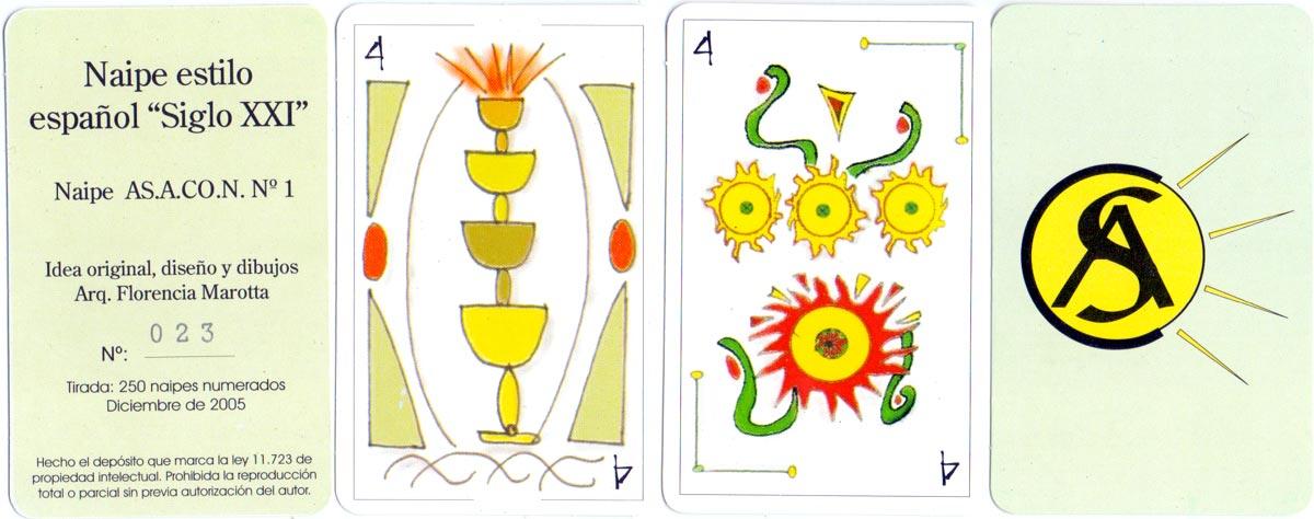 "Naipe Estilo Español ""Siglo XXI"" created by Florencia Marotta, 2005"