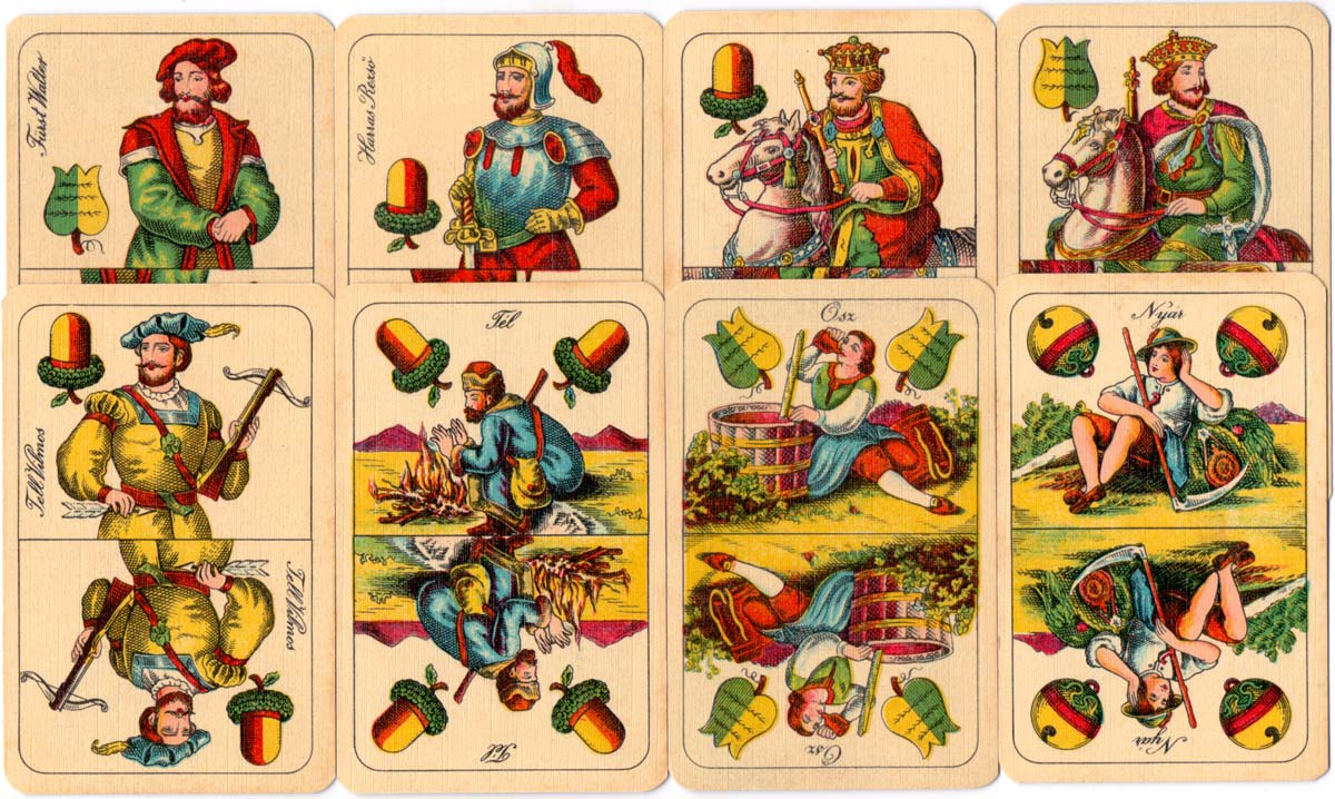 Hungarian 'Seasons' playing cards made by G. Berger, Alsina 373, Buenos Aires c.1940