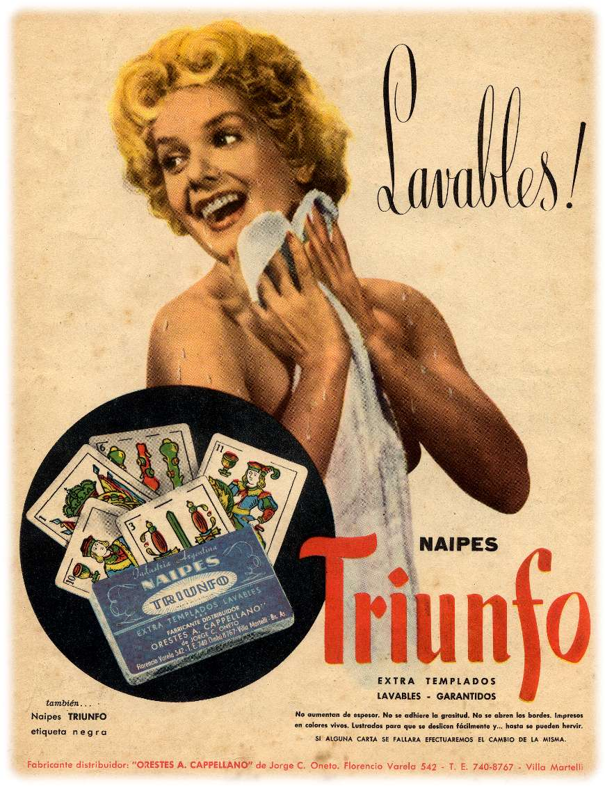 advert for Naipes Triunfo, c.1950-55