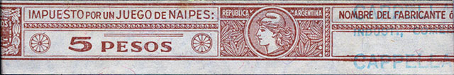 5 pesos tax band, 1965-68