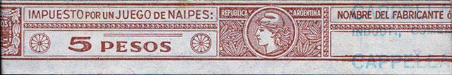 5 pesos tax band, 1965-68