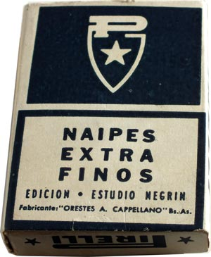 Estudio Negrin playing cards made by Orestes A. Cappellano, S.R.L., for PIRELLI, c.1960