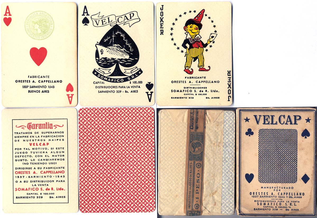 VELCAP playing cards, c.1944