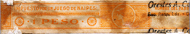 Orange 1 Peso tax band, c.1950