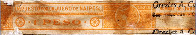 Orange 1 Peso tax band, c.1960