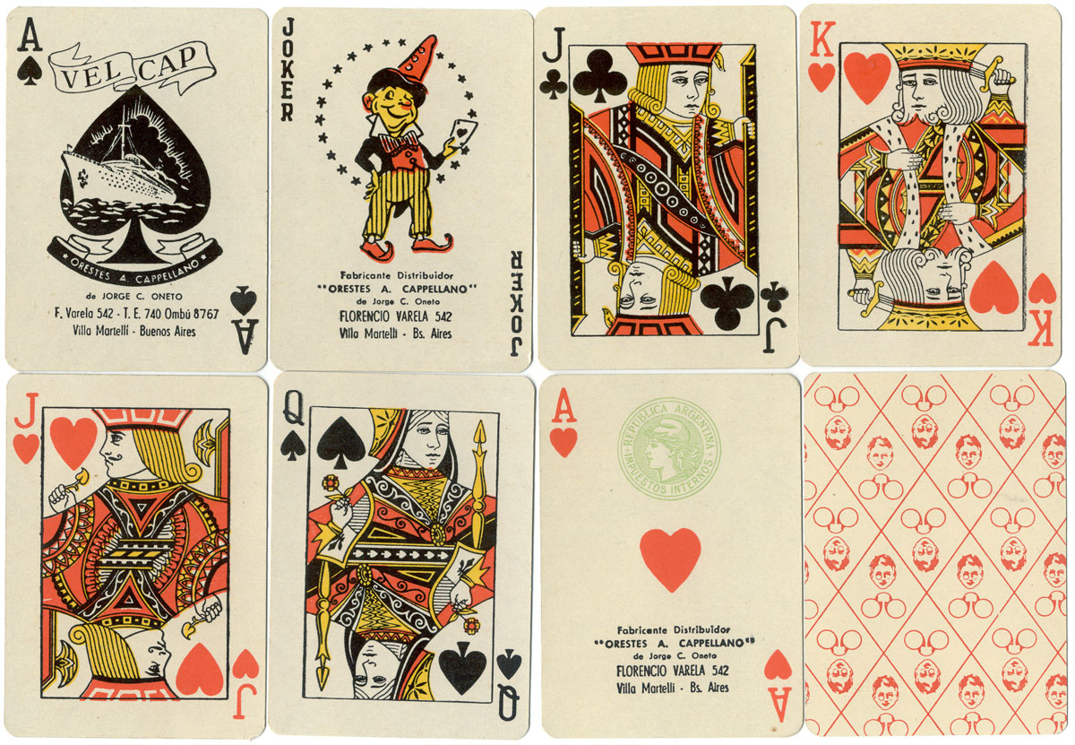 Lutz Ferrando y Cía Opticians playing cards made by Orestes A. Cappellano de Jorge C. Oneto, c.1960-65