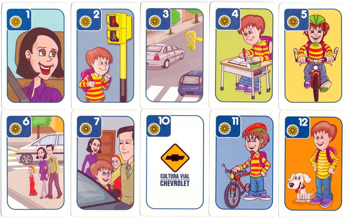 'Creciendo Seguros' road safety awareness playing cards from Argentina, 2006